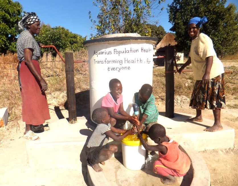 AquAid Elephant pump providing clean drinking water